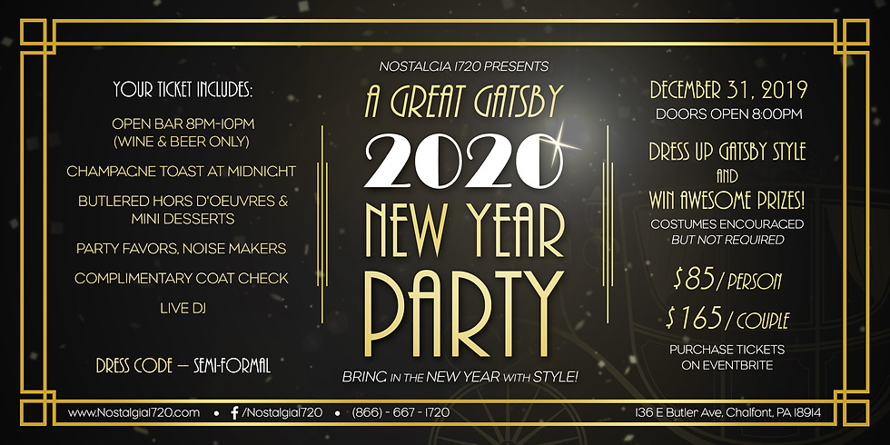 A GREAT GATSBY NEW YEAR PARTY 2020
