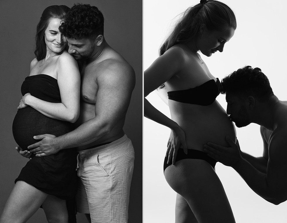 Babybauch-Fotos mit Partner in Köln | Babybauch-Paarschooting