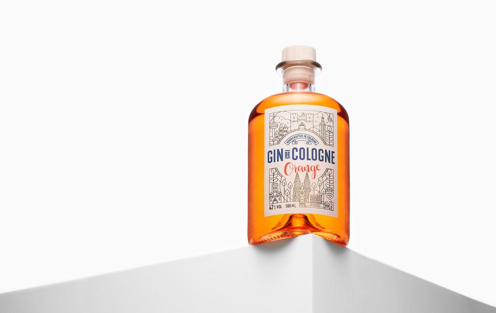 Produktfotografie in Köln - Gin de Cologne Orange