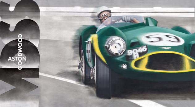 Moss Aston Goodwood original painting