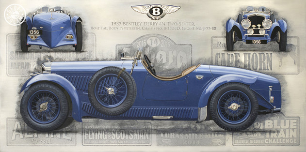 Derby Bentley commissioned painting