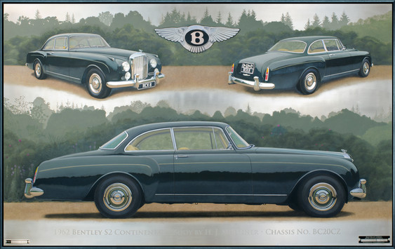 Bentley Continental commissioned painting