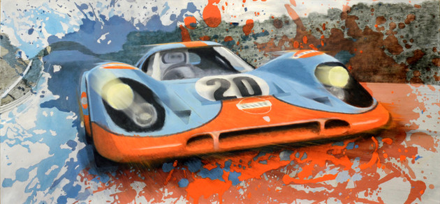 Porsche 917 Le Mans Splash original painting