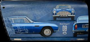 Aston DB6 original painting