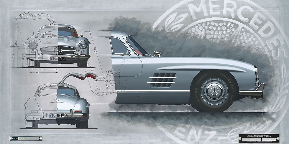 Mercedes 300SL 'Gullwing' print