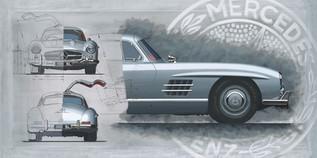 Mercedes 300SL original painting