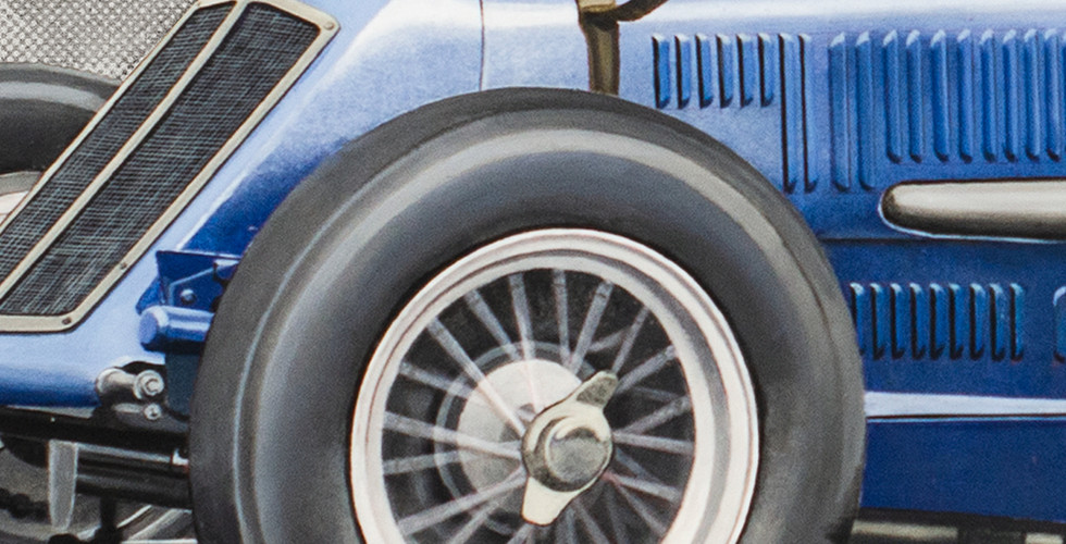 Detail of front wheel
