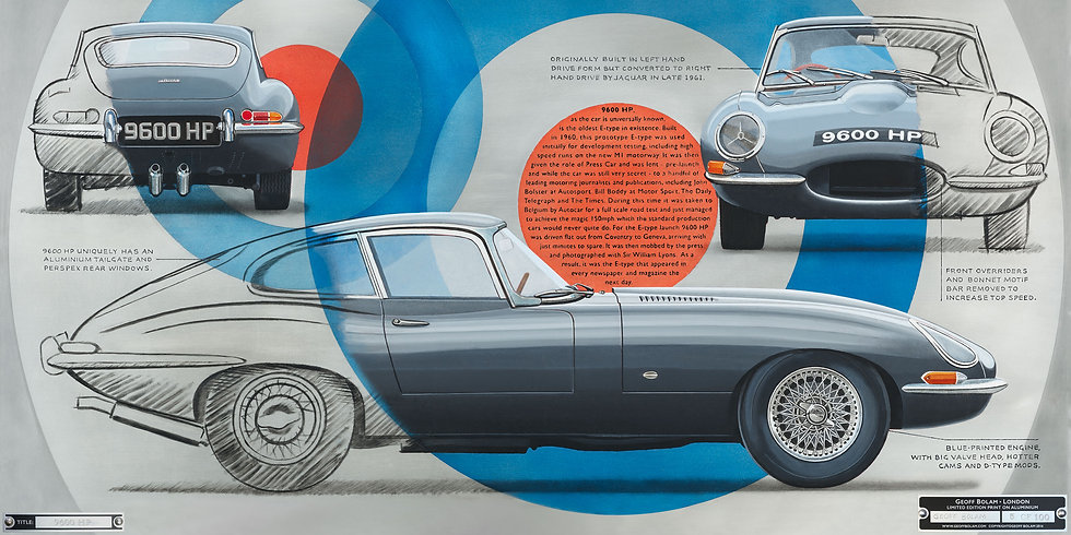 E-Type Jaguar 9600 HP print