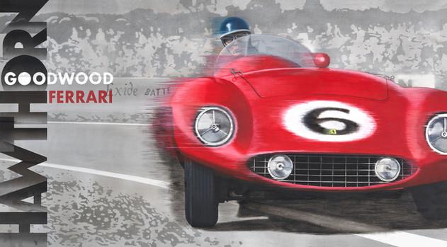 Hawthorn Ferrari Goodwood original painting