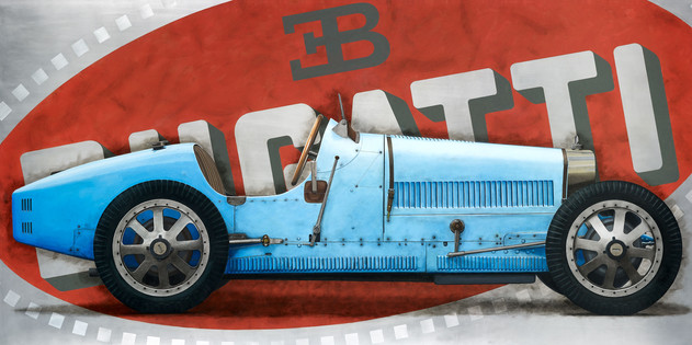 Bugatti Type 35 original painting