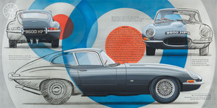 E-type Jaguar 9600 HP original painting