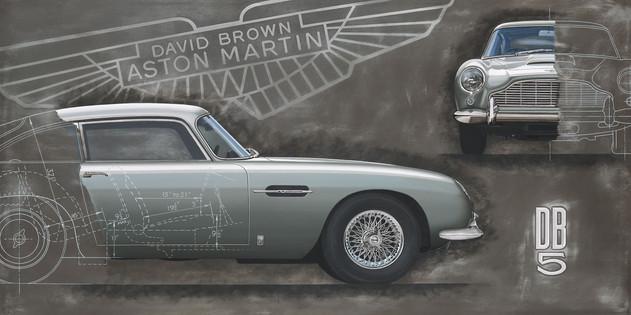 Aston Martin DB5 original painting