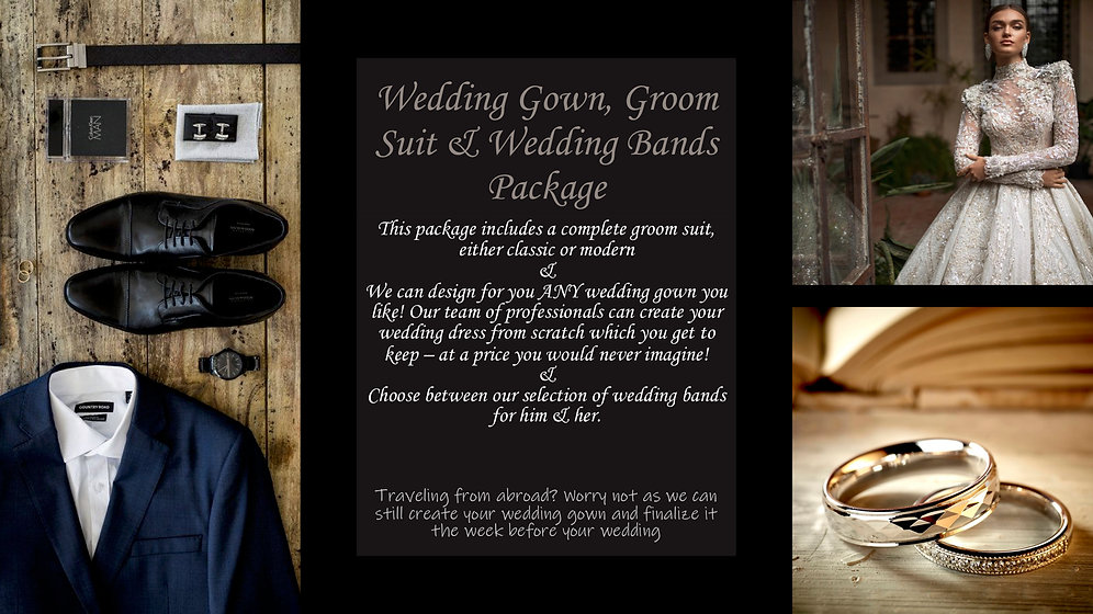 For PanDa Dreams Wedding gowns and rings