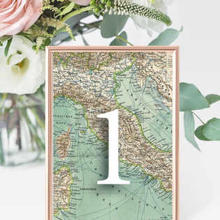 Table numbers in map frame