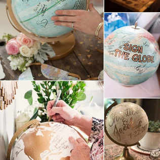 World globe guest signing