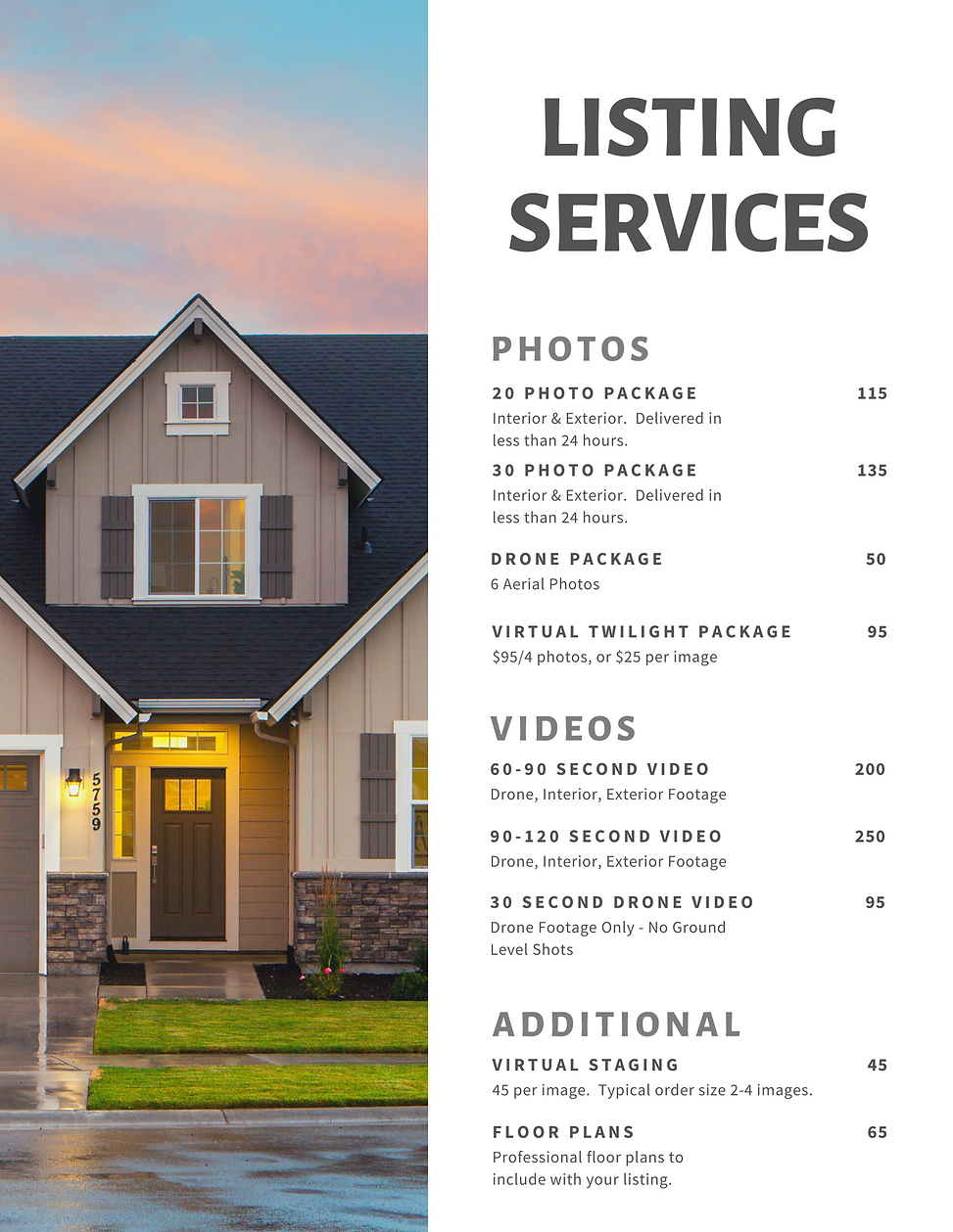 August 2nd Listing Services