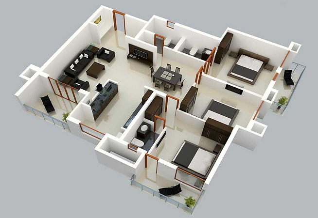 Three-Bedroom-Large-Family-Home-Plans-In