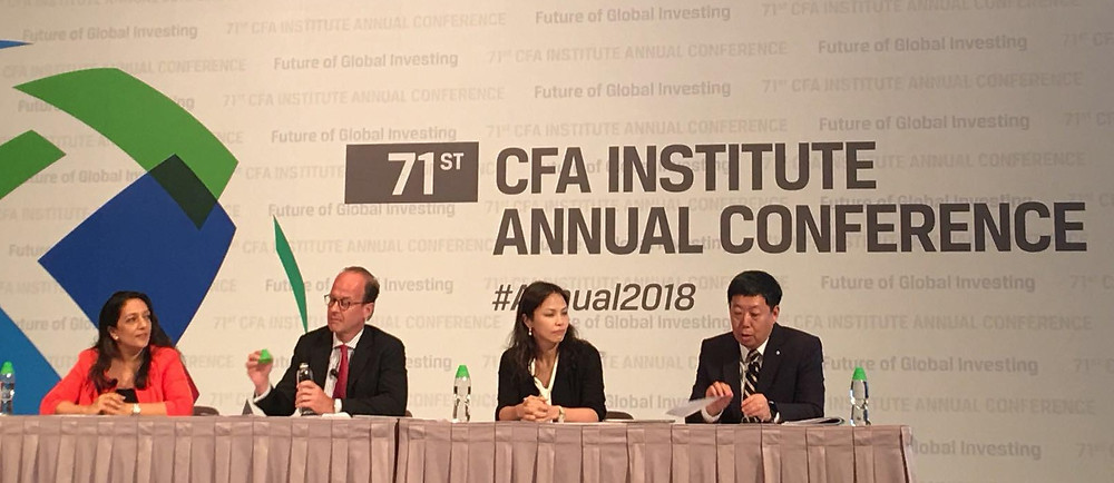 Sehr Ahmed at the CFA Institute annual conference