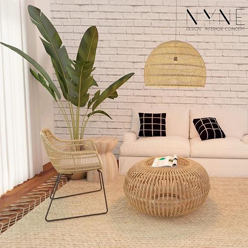 Living room ratan