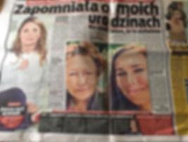 """Magdalena Podbrożna w """"Fakt"""""""