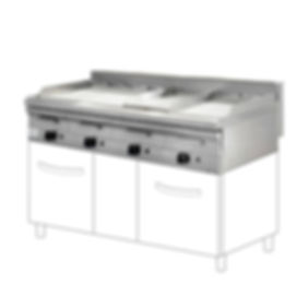Gas griddle catering cooking equipment