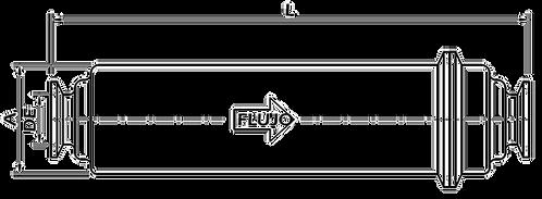 """Filtro en Línea Largo 2"""" Extremos Clamp OTFM2"""