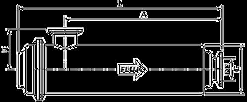"Filtro en Línea Largo Salida Lateral 2½"" OTFM2L"