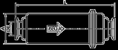 """Filtro en Línea Corto 3"""" Extremos Clamp OTFM1"""