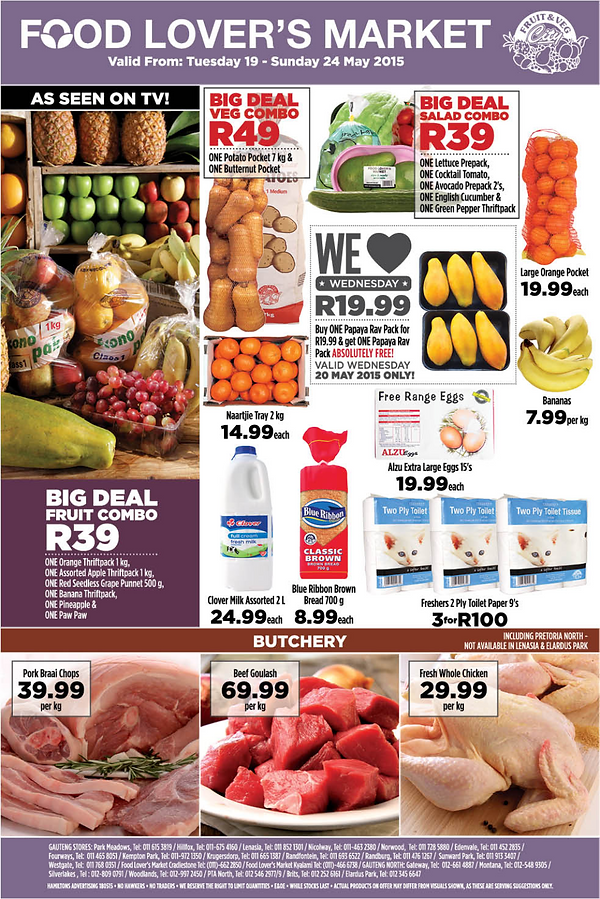 Check4speicials food lovers fourways week day specials forumfinder Choice Image