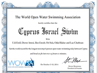 Cyprus Israel Swim - We Did it!