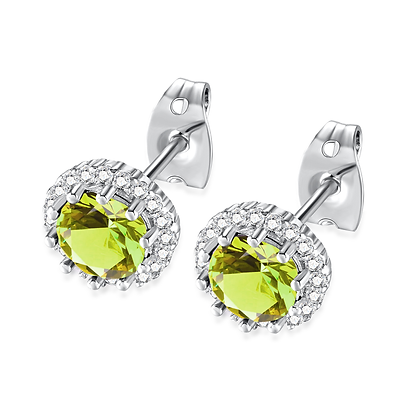Peridot Rhinestone Earrings