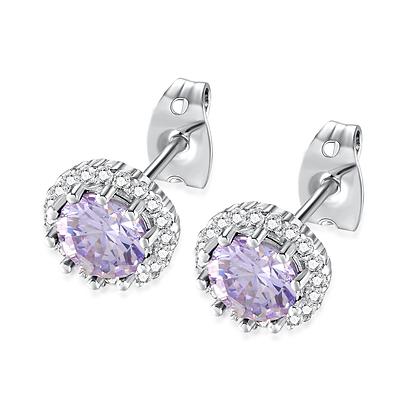 Alexandrite Rhinestone Earrings