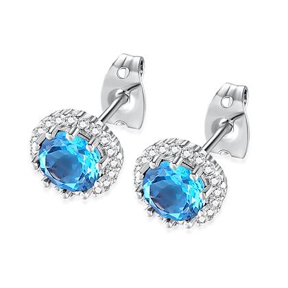 Turqoise Rhinestone Earrings