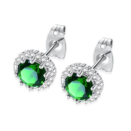 Emerald Rhinestone Earrings