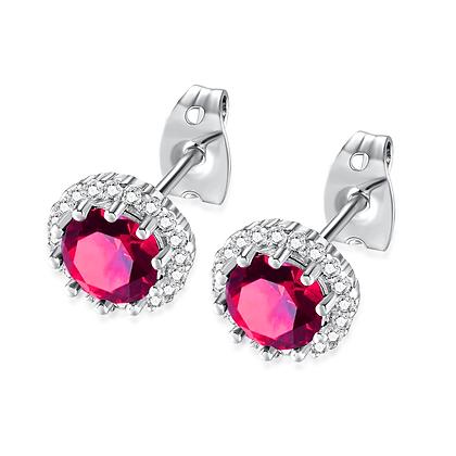 Ruby Rhinestone Earrings
