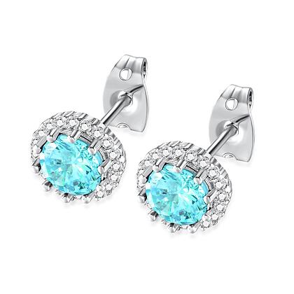 Aquarmarine Rhinestone Earrings