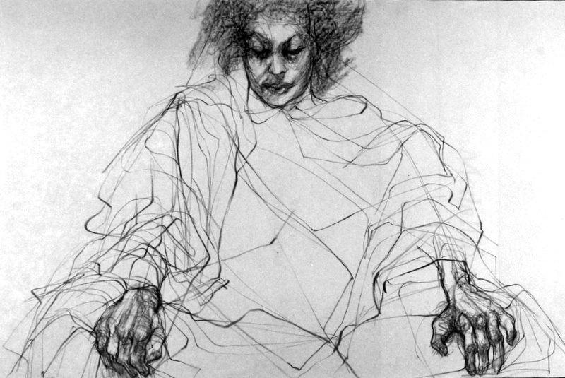 Conte Crayon Drawings