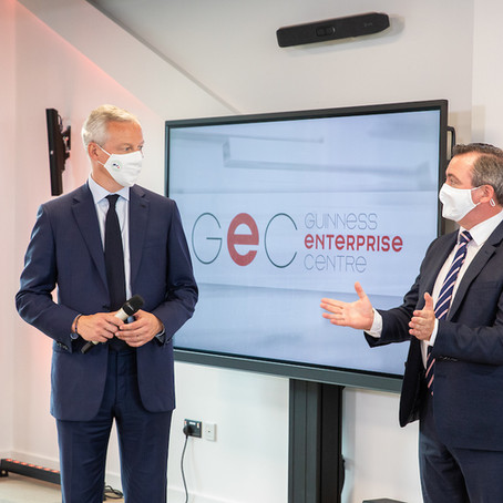 French Minister for Economy and Finance Bruno Le Maire visits the GEC