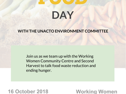World Food Day 2018 with the UNACTO Environment Committee