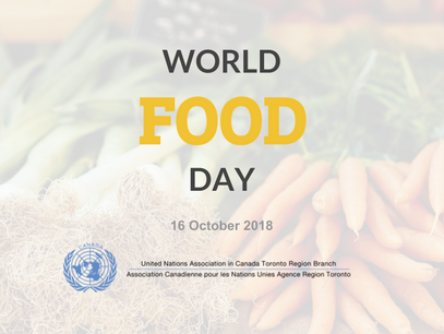 Working towards #ZeroHunger in Toronto this World Food Day 2018