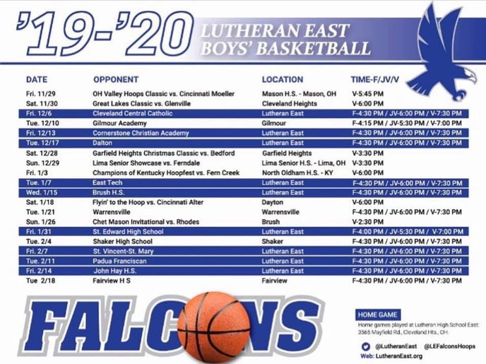 #theLUE 2020 Schedule