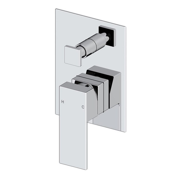 Mizu Bloc MK2 Chrome Shower Mixer Diverter