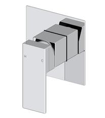 Mizu Bloc Chrome Shower/Bath Mixer