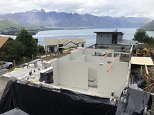 ☔️ Rain jackets on and panels up for a new project underway in Queenstown 🌧