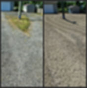 Installed gravel parking area
