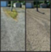 Installed gravel parking area