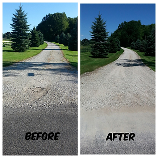 Only Graded, no gravel added