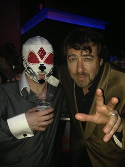 Gambling Addict Mask at Promo Event