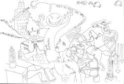 亂畫001random drawing001