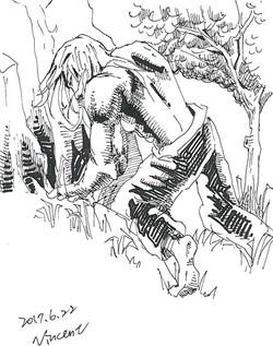 林內俠士A man in the woods